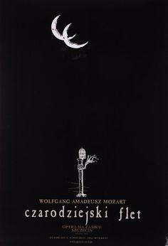 The Magic Flute poster for the opera of Wolfgang Amadeus Mozart Original Polish poster  designer: Ryszard Kaja  year: 2003