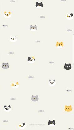 Wallpaper phone art patterns 15 ideas for 2019 Wallpaper Gatos, Cat Wallpaper, Cute Wallpaper Backgrounds, Trendy Wallpaper, Tumblr Wallpaper, Cartoon Wallpaper, Screen Wallpaper, Phone Backgrounds, Iphone Wallpapers