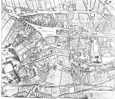Badder and Peat Map of 1745 Nottingham Map, Family History, Growing Up, City Photo, Medieval, Past, Image, Places, Past Tense