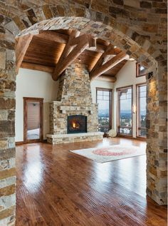 Gallery of Homes by Kogan Builders Cabin Homes, Log Homes, Love Your Home, My Dream Home, Design Your Dream House, House Design, Fireplace Design, Cozy Fireplace, Log Home Interiors