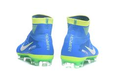 new styles 16e38 1afe8 Nike Mercurial Superfly V NJR FG Blue Green White Soccer Shoes Mens 2017