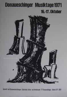 Fritz Wotruba - Original Artist Poster 1971 – Art & Vintage Store Ltd Vintage Prints, Vintage Posters, Original Vintage, Exhibition Poster, Paper Texture, Fine Art Prints, Poster Prints, Old Things, Museum