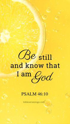 Lemon Psalm 46:10