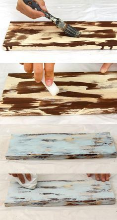 How To Distress Wood & Furniture Easy Techniques & Videos . How to Distress Wood & Furniture EASY Techniques & Videos diy wood painting techniques - Diy Techniques and Supplies Diy Wood Projects, Furniture Projects, Woodworking Projects, Woodworking Techniques, Woodworking Plans, Popular Woodworking, Woodworking Furniture, Woodworking Supplies, Furniture Plans