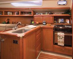 1000 images about boat galley on pinterest boats for sale sailboat interior and boats Ship galley kitchen design