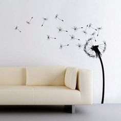 "Dandelion Wall Decal! Something about this screams ""I deserve to be in your living room"" ;)"