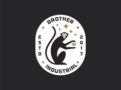 BROTHERS INDUSTRIAL designed by Sandro laliashvili. Connect with them on Dribbble; Kids Branding, Logo Branding, Branding Design, Popular Logos, Logos Retro, Tropical, Animal Logo, Typography Logo, Graphic Design Inspiration