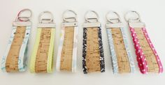 Keychain cork  keychain cork gift cork nature by MontradaCarolina