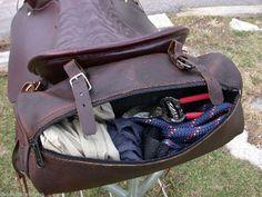 Olde Time Cantle Bag - Horse Leather Saddlebag - Tucker & Circle Y Saddles