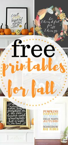 Inexpensive printables for fall. Fall Printables, Free Fall Printables, DIY Holiday, DIY Fall Printables, Fall Decor, DIY Home Decor, DIY Fall Decor