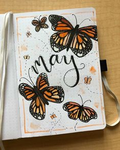 Playful butterfly spreads for your bullet journal! Butterflies are such a playful and colorful addition to your bullet journal! Use these examples as some amazing inspiration to create your next incredible bujo spread! Bullet Journal Cover Ideas, Bullet Journal Month, Bullet Journal Banner, Bullet Journal Notebook, Bullet Journal School, Bullet Journal Spread, Bullet Journal Inspiration, Bullet Journal Examples, Bellet Journal