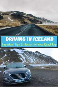 If you're thinking of renting a car during your trip to Iceland, here are some important things you need to think about before you go. From driving on icy roads, to parking and locating gas stations - this is the ultimate guide for your road trip in Iceland during winters. Iceland Travel Tips, Europe Travel Guide, Travelling Europe, Backpacking Europe, Road Trip Hacks, Road Trips, Road Trip Destinations, Travel Inspiration, Life Inspiration