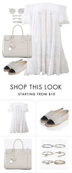 """Untitled#4369"" by fashionnfacts ❤ liked on Polyvore featuring Anjuna, Chanel, Yves Saint Laurent, Boohoo and Kosha"