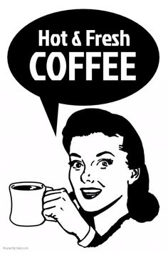 Black and white Retro Coffee Poster | PosterMyWall