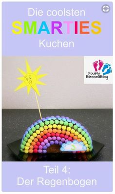 Die coolsten Geburtstagskuchen: Der Regenbogen The coolest SMARTIES cake - Colorful and sweet! Part The Rainbow - Baking a cake for the kids on their birthday is fun - And every year, it tak Birthday Tags, Cool Birthday Cakes, Smarties Cake, Rainbow Baking, Cake Games, Easy Smoothie Recipes, Birthday Cake Decorating, Pumpkin Spice Cupcakes, Rainbow Birthday