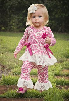 Lacy Cupcake Dress & Legging Set 3 and 6 months and 2T to 4T Now in Stock! Matching Shoe & Flower Hair Clip Available Too! - Children's Valentine's Day Clothing - Cassie's Closet