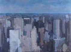 """Daniel Hughes. (1968, Canada) New York Cityscape #1.  36 x 48"""""""