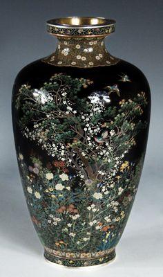 Cloisonne Baluster Vase - Inaba Nanaho