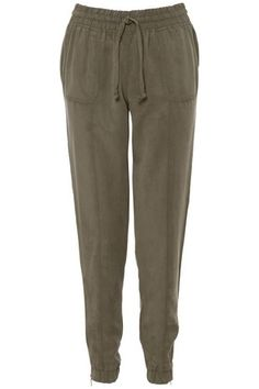 Khaki Plain Pocket Joggers in TROUSERS & LEGGINGS from Apricot