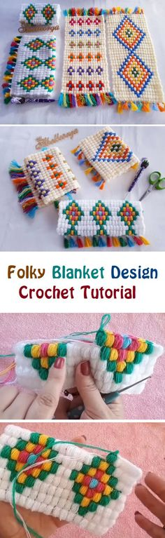 Crochet Folky Blanket Want to learn to crochet something a bit different. Well, today we have quite a unique tutorial for you. You are going to learn how to crochet a simple blanket with puffy orna… Crochet Art, Crochet Home, Learn To Crochet, Crochet Crafts, Yarn Crafts, Crochet Stitches, Crochet Projects, Free Crochet, Blanket Crochet