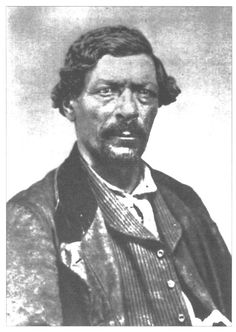 Jim Pierson Beckwourth, American fur trapper, mountain man and explorer. Born into slavery, he later moved to the American west where he lived with the Crow for years. He is credited with discovering the Beckwourth Pass through the Sierra Nevada during the gold rush years and improving the Beckwourth Trail which thousands of Americans followed to California.