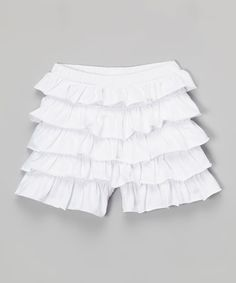 This White Tiered Ruffle Shorts - Infant, Toddler & Girls by Sophie & Sam is perfect! #zulilyfinds