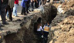 Meydan Projesinde çalışan işçi yaralandı