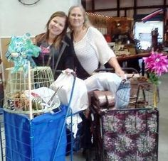 Daughters were off exploring Trade Days' treasures while mom, Gigi from Troy, Texas and friend, Teresa from Bryan, Texas, enjoy their First Monday four day weekend of shopping. With carts loaded on their round two day they came prepared, bringing two cars to make sure they have enough room to haul all the their goodies home.