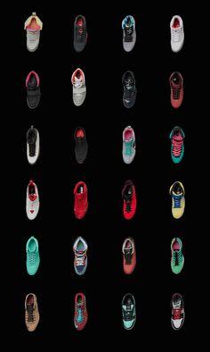 Nike sneakers in motion