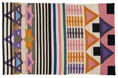 Unless noted below, all sizes are in stock and will ship within 3-5 business days. Aelfie rugs are designed in Brooklyn and handmade by artisans in India. - 80% wool, 20% cotton. - Reversible. - Sizes