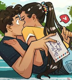 This is our open love letter for all the To All The Boys I've Loved Before fan art! Lara Jean, Peter K, Jean Peters, Jenny Han, Kissing Booth, Fanart, Boys Wallpaper, Movie Couples, I Still Love You