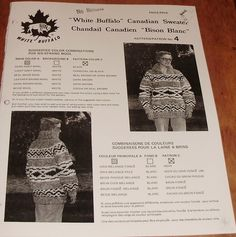 White Buffalo Pattern Canadian Sweater His or Hers by Mostable, $7.00
