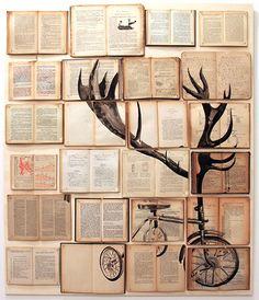 L'artista russa Ekaterina Panikanova recupera libri, riviste, diari e quaderni ceduti e venduti a bancarelle dell'usato per usarli come supporto per rappresentare un mondo fatto di frammenti: quello dei ricordi.