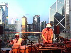 Cool music performance and the coolest backdrop@sevva, Hong Kong