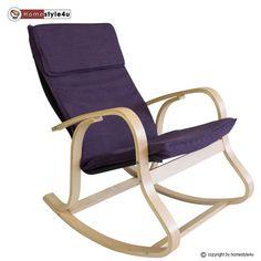 Schaukelstuhl Schwingsessel Sessel Stuhl Relax natur Polster lila in Möbel & Wohnen, Möbel, Sofas & Sessel | eBay