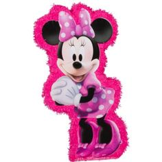 Hot Pink Minnie Mouse Pinata 37in x 19 1/2in - Party City