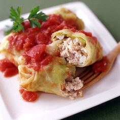 Weight Watchers Turkey Stuffed Cabbage Leaves: 6 Points+