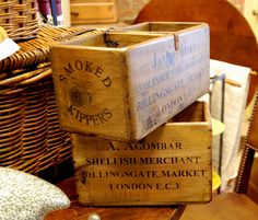 love these antique boxes