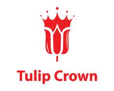 Tulip crown Logo design - This bold logo represents a tulip flower and a crown above it. This logo is ideal for a florist. Price $299.00