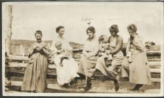 Ancestors Live Here: Wordless Wednesday ~ Crocheting Great-grandma