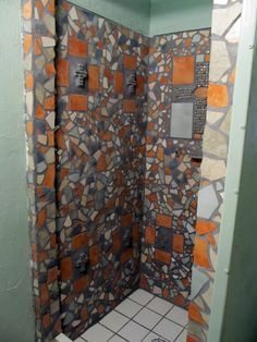 Mosaic tile shower...by the Phoenix Commotion crew member/artist Paula.  Check out her art on ETSY at http://www.etsy.com/shop/IndustrialBloom and http://www.etsy.com/shop/PaulaArt.