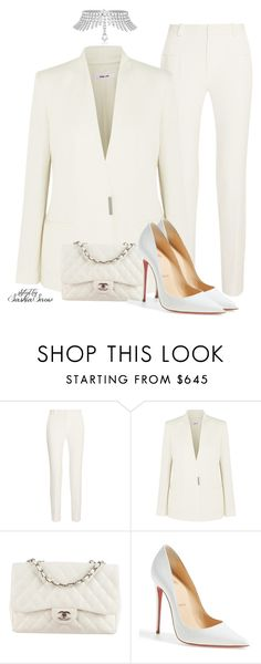 """""""Unbenannt #2898"""" by saskiasnow ❤ liked on Polyvore featuring Chopard, Roland Mouret, Helmut Lang, Chanel and Christian Louboutin"""