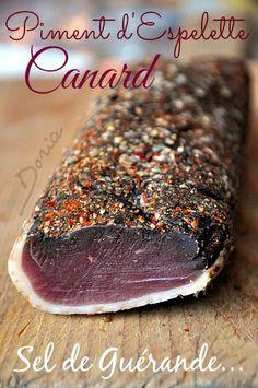 La cuisine de Doria.over-blog.com - Filet de canard séché au poivre et piment d'Espelette