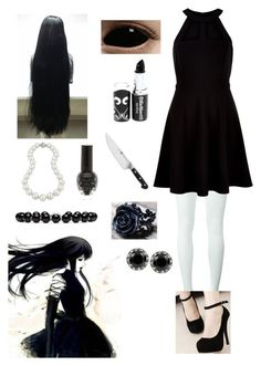 """""""Creepypasta: Jane the Killer"""" by ender1027 ❤ liked on Polyvore featuring Comme des Garçons, New Look, Bling Jewelry, Zwilling J.A. Henckels, Betsey Johnson and Gucci"""