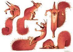 squirrel, Thibault LECLERCQ on ArtStation at https://www.artstation.com/artwork/Wbon3