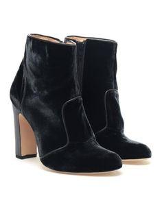 BIONDA CASTANA 'Gabriele' Velvet Ankle Boots - Polyvore