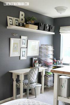 Mini Art studio organization - I need one of those metal shelving things! STAT!