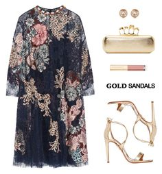 """""""Gold sandals"""" by anthy ❤ liked on Polyvore featuring Biyan, Aquazzura, Michael Kors, Dolce&Gabbana and Alexander McQueen"""