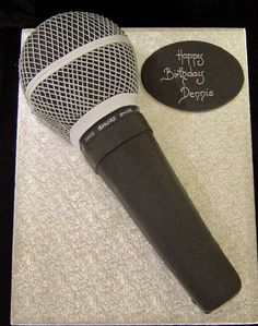 Microphone Cake - Click Image to Close