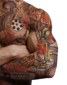 Tattoo Trend 2013: Black And White Sleeve Tattoo Designs
